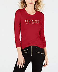 GUESS Signature Long-Sleeve T-Shirt