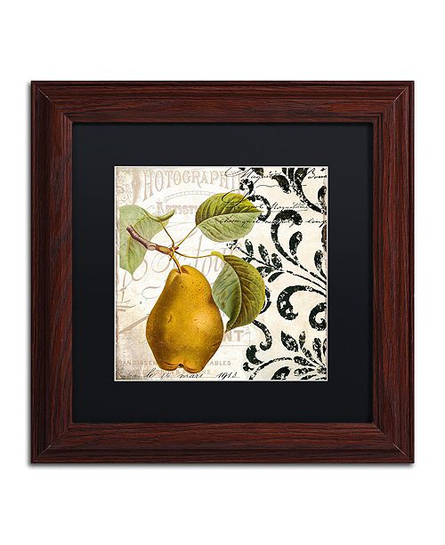 "Trademark Global Color Bakery 'Les Fruits Jardin I' Matted Framed Art, 11"" x 11"""