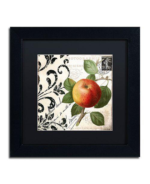 """Trademark Global Color Bakery 'Les Fruits Jardin Iv' Matted Framed Art, 11"""" x 11"""""""