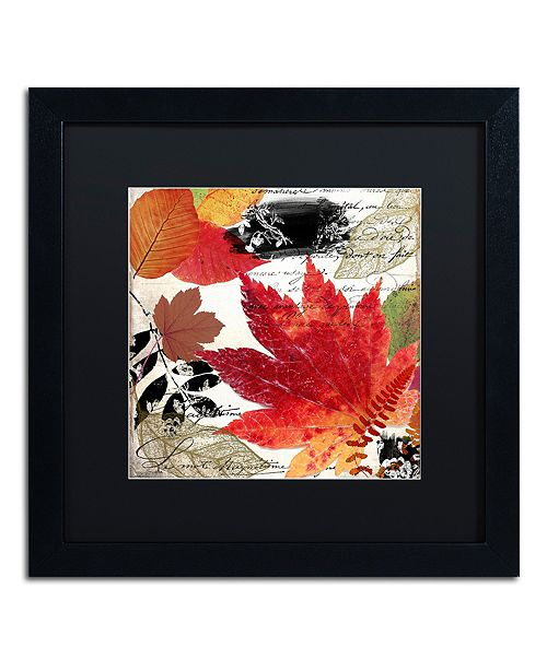 "Trademark Global Color Bakery 'Equinox I' Matted Framed Art, 16"" x 16"""
