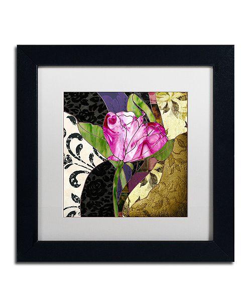 "Trademark Global Color Bakery 'Glassberry Iv' Matted Framed Art, 11"" x 11"""
