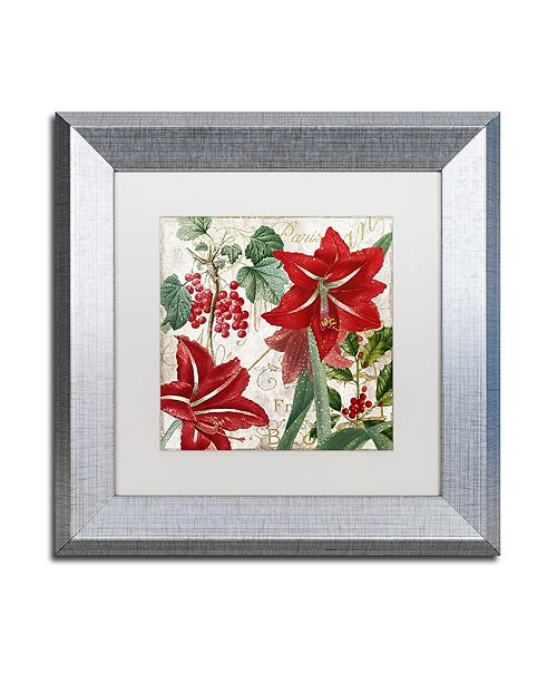 """Trademark Global Color Bakery 'Christmas In Paris Ii' Matted Framed Art, 11"""" x 11"""""""