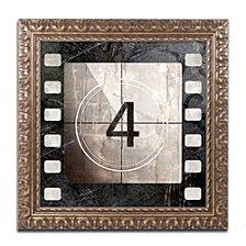 Color Bakery 'Vintage Countdown Iv' Ornate Framed Art