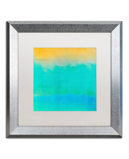 "Trademark Global Color Bakery 'Gradients Ii' Matted Framed Art, 16"" x 16"""