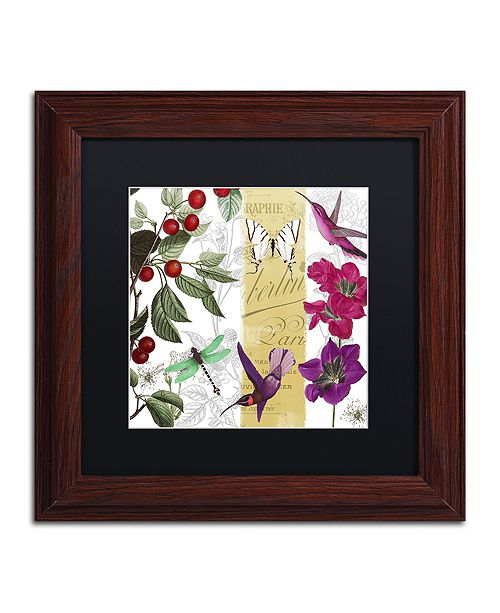 "Trademark Global Color Bakery 'Cherry Picked Ii' Matted Framed Art, 11"" x 11"""