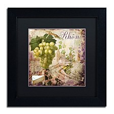 "Color Bakery 'Wine Country Vi' Matted Framed Art, 11"" x 11"""