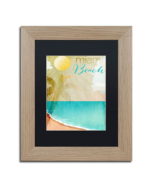 """Trademark Global Color Bakery 'Miami Beach' Matted Framed Art, 11"""" x 14"""""""