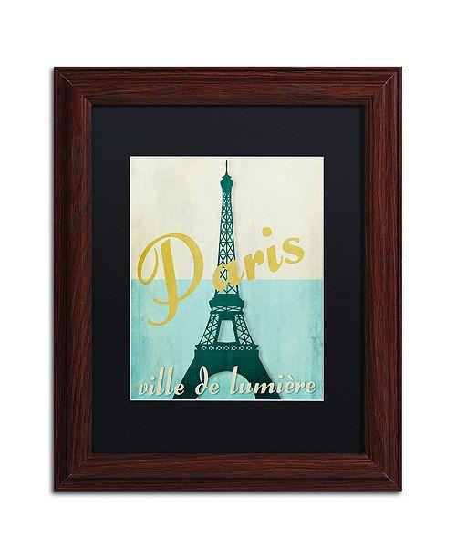 "Trademark Global Color Bakery 'Paris City Of Light' Matted Framed Art, 11"" x 14"""