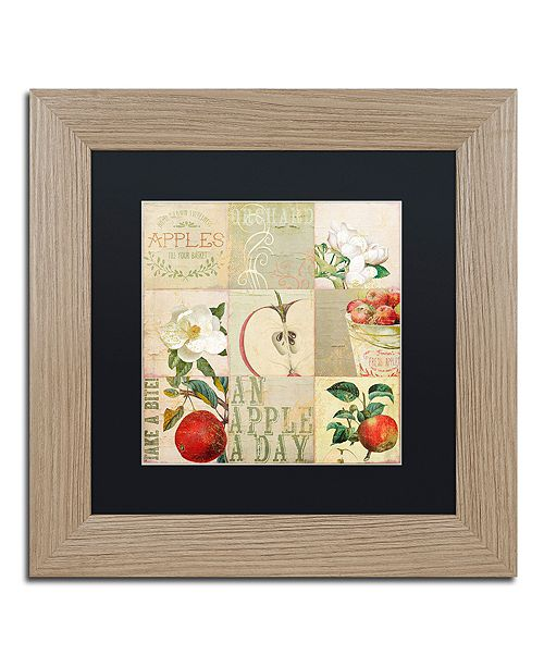 """Trademark Global Color Bakery 'Apple Blossoms Iii' Matted Framed Art, 11"""" x 11"""""""