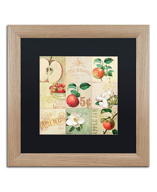 "Trademark Global Color Bakery 'Apple Blossoms Iv' Matted Framed Art, 16"" x 16"""