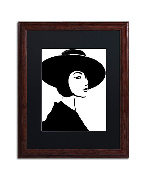 "Trademark Global Color Bakery 'Mode' Matted Framed Art, 16"" x 20"""