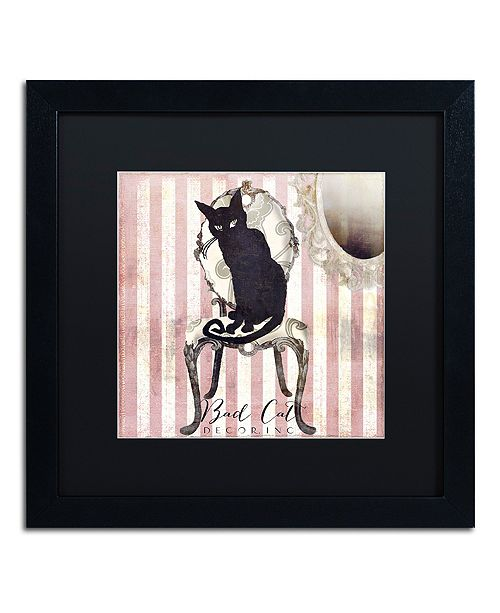 "Trademark Global Color Bakery 'Bad Cat I' Matted Framed Art, 16"" x 16"""