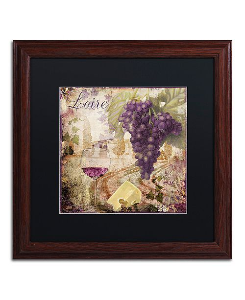 "Trademark Global Color Bakery 'Wine Country Ii' Matted Framed Art, 16"" x 16"""