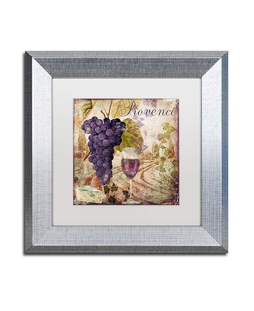 """Trademark Global Color Bakery 'Wine Country Iii' Matted Framed Art, 11"""" x 11"""""""