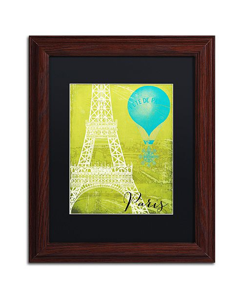 """Trademark Global Color Bakery 'Retro Cities Iii' Matted Framed Art, 11"""" x 14"""""""