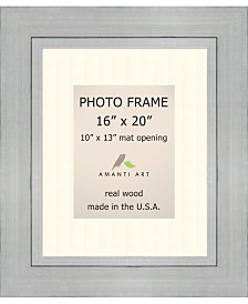 """Amanti Art Romano Silver 16"""" X 20"""" Matted to 10"""" X 13"""" Opening Wall Picture Photo Frame"""