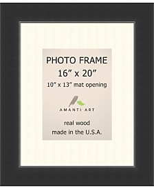 """Amanti Art Corvino Black 16"""" X 20"""" Matted to 10"""" X 13"""" Opening Wall Picture Photo Frame"""