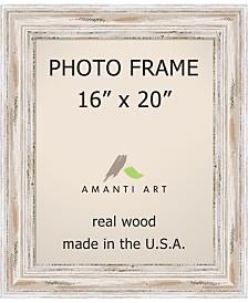 "Amanti Art Alexandria Whitewash 16"" X 20"" Opening Wall Picture Photo Frame"