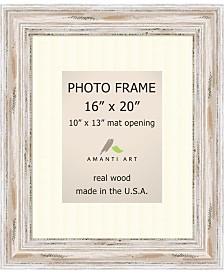 "Amanti Art Alexandria Whitewash 16"" X 20"" Matted 10"" X 13"" Opening Wall Photo Frame"