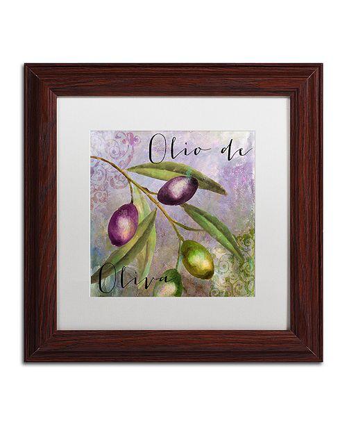 """Trademark Global Color Bakery 'Olivia I' Matted Framed Art, 11"""" x 11"""""""