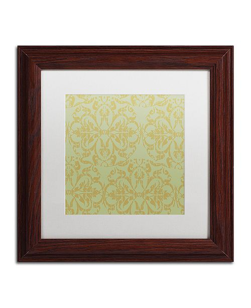 "Trademark Global Color Bakery 'Annabelle Lee V' Matted Framed Art, 11"" x 11"""