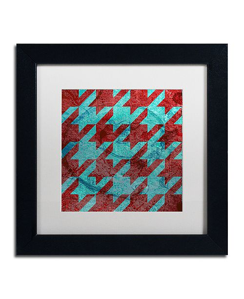 "Trademark Global Color Bakery 'Houndstooth Iv' Matted Framed Art, 11"" x 11"""