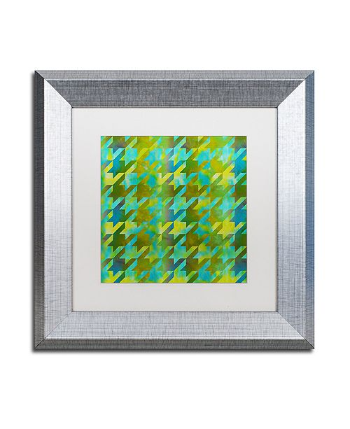 "Trademark Global Color Bakery 'Houndstooth Vii' Matted Framed Art, 11"" x 11"""