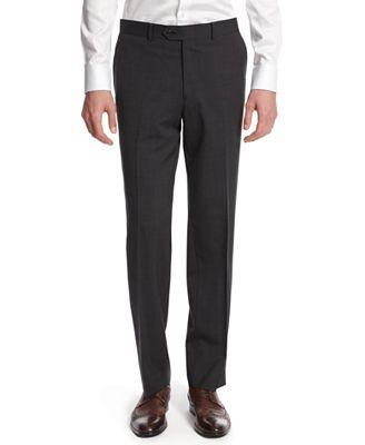 Bar III Dark Charcoal Slim-Fit Pants - Suits & Suit Separates ...