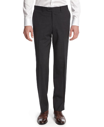 Bar III Dark Charcoal Slim-Fit Pants - Suits & Suit Separates ...