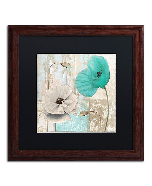 "Trademark Global Color Bakery 'Beach Poppies Iii' Matted Framed Art, 16"" x 16"""