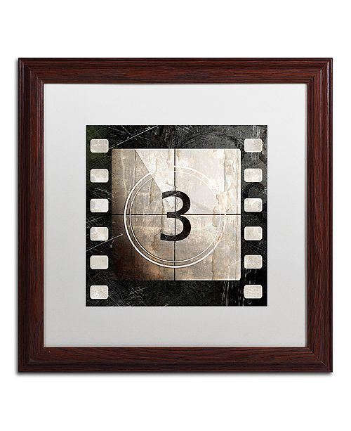 """Trademark Global Color Bakery 'Vintage Countdown Iii' Matted Framed Art, 16"""" x 16"""""""