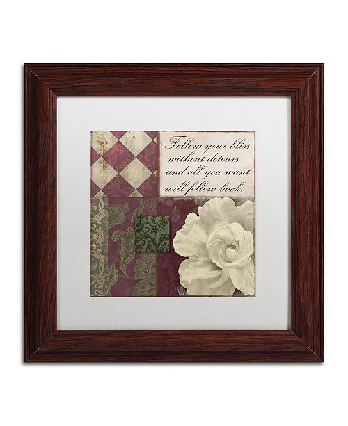 """Trademark Global Color Bakery 'Follow Your Bliss' Matted Framed Art, 11"""" x 11"""""""