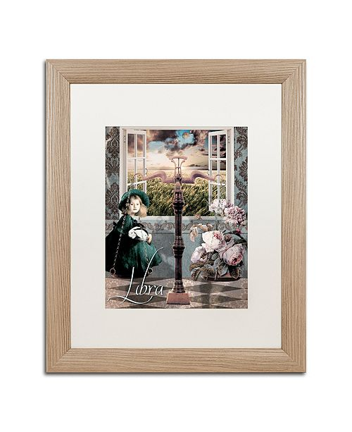"""Trademark Global Color Bakery 'Art Nouveau Zodiac Libra' Matted Framed Art, 16"""" x 20"""""""