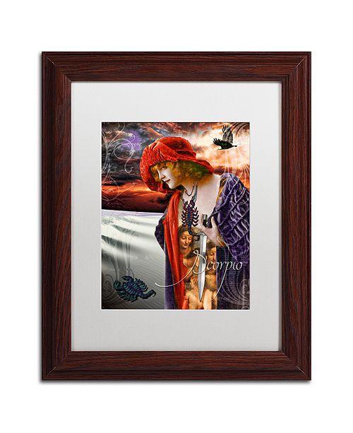 "Trademark Global Color Bakery 'Art Nouveau Zodiac Scorpio' Matted Framed Art, 11"" x 14"""