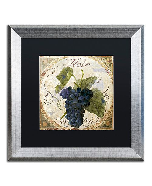 "Trademark Global Color Bakery 'Tuscany Table Noir' Matted Framed Art, 16"" x 16"""