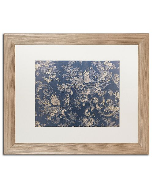 "Trademark Global Color Bakery 'Toile Fabrics Ii' Matted Framed Art, 16"" x 20"""