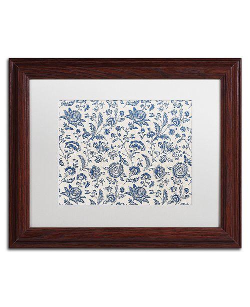 "Trademark Global Color Bakery 'Toile Fabrics Ix' Matted Framed Art, 11"" x 14"""