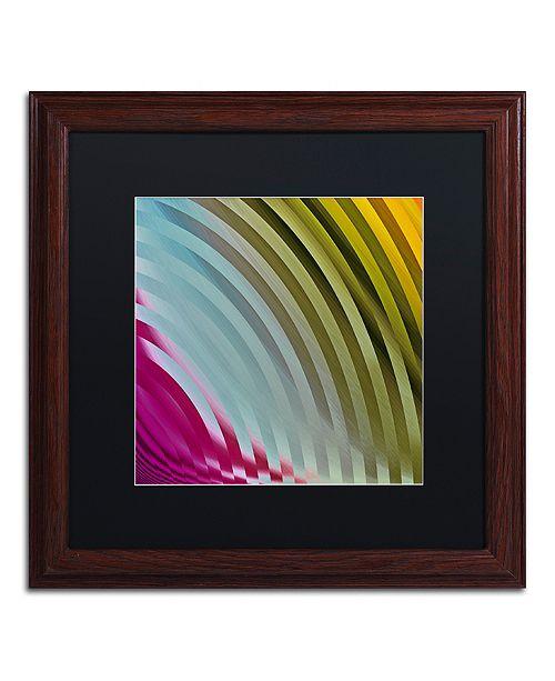 "Trademark Global Color Bakery 'Satin I' Matted Framed Art, 16"" x 16"""