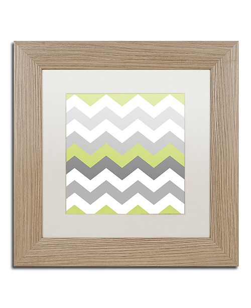 "Trademark Global Color Bakery 'Calyx Chevron' Matted Framed Art, 11"" x 11"""