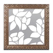 Color Bakery 'Calyx Floral' Ornate Framed Art