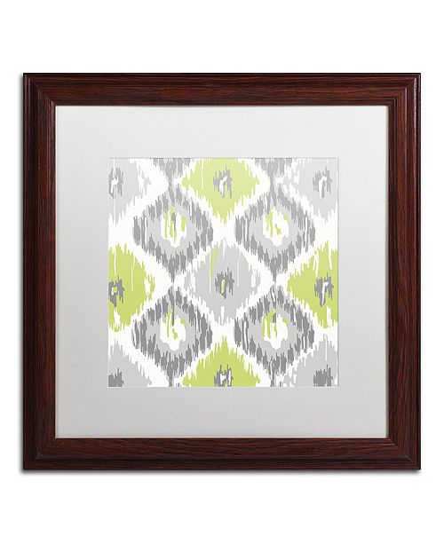 "Trademark Global Color Bakery 'Calyx Ikat' Matted Framed Art, 16"" x 16"""