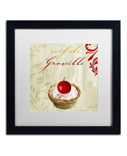 "Trademark Global Color Bakery 'Tartes Francais, Currant' Matted Framed Art, 16"" x 16"""