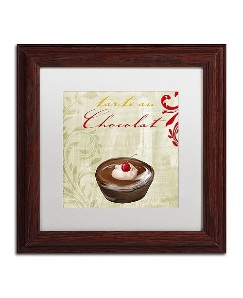 "Trademark Global Color Bakery 'Tartes Francais, Chocolat' Matted Framed Art, 11"" x 11"""