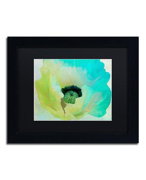 """Trademark Global Color Bakery 'Poppy Gradient I' Matted Framed Art, 11"""" x 14"""""""