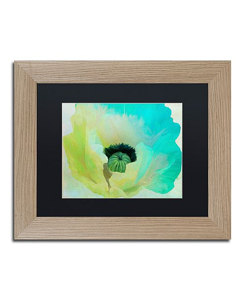 "Trademark Global Color Bakery 'Poppy Gradient I' Matted Framed Art, 11"" x 14"""