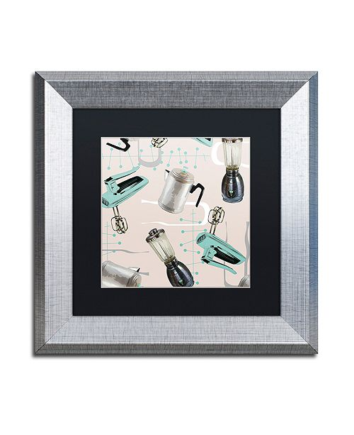 """Trademark Global Color Bakery 'Fifties Patterns I' Matted Framed Art, 11"""" x 11"""""""