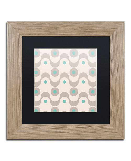 "Trademark Global Color Bakery 'Fifties Patterns Iii' Matted Framed Art, 11"" x 11"""