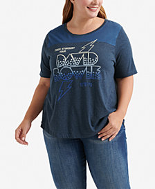 Lucky Brand Plus Size David Bowie Tour T-Shirt
