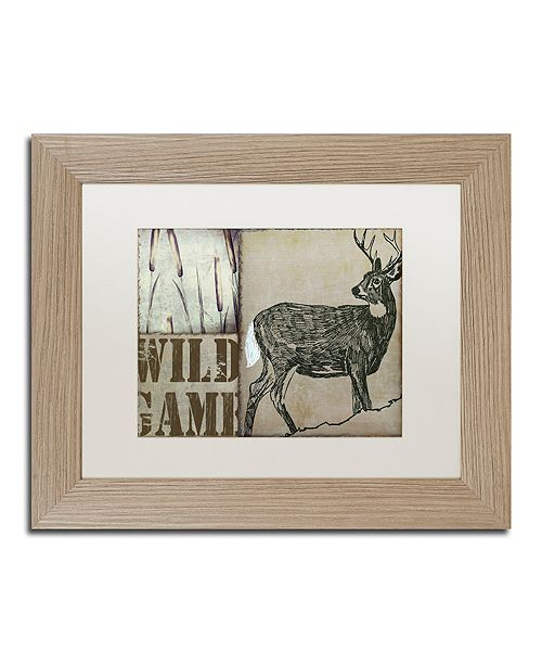 """Trademark Global Color Bakery 'Deer With White Tail' Matted Framed Art, 11"""" x 14"""""""