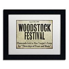Color Bakery 'Woodstock' Matted Framed Art
